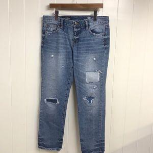 J. Crew Broken In Boyfriend Jeans